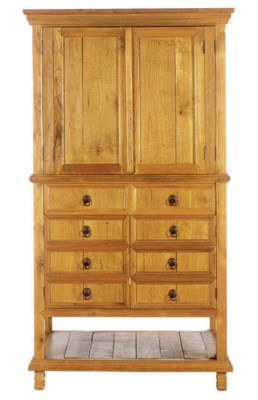 A PINE TELEVISION CABINET,