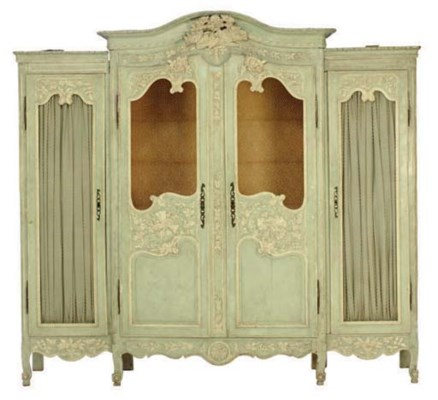 A LOUIS XV PROVINCIAL BLUE AND