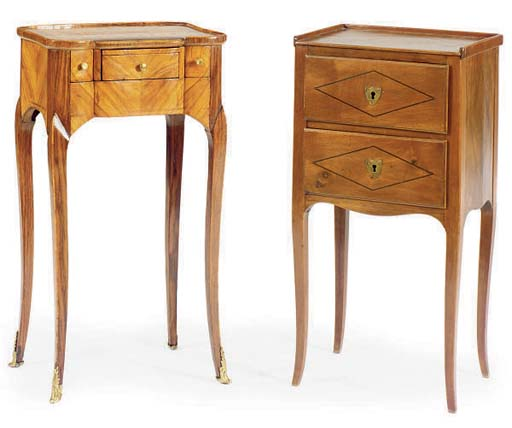 A FRENCH INLAID FRUITWOOD OCCA