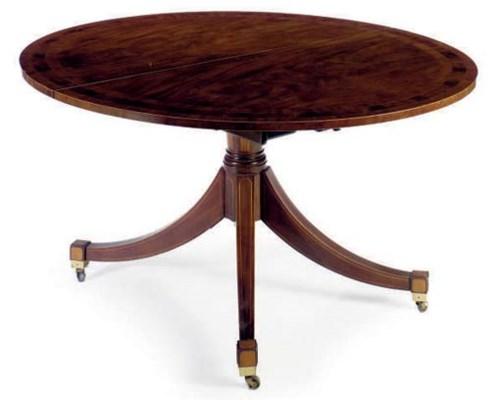 A MAHOGANY BREAKFAST TABLE,