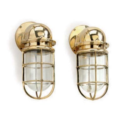 A pair of polished brass compa