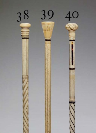 A 19th century turned ivory an