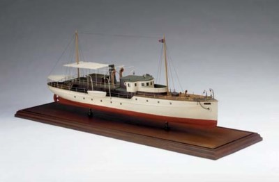 An old model of the motor yach