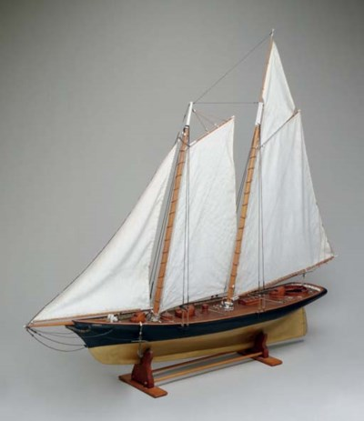 A model of the schooner yacht