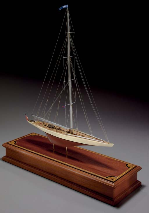A model of the 1937 America's Cup Defender Ranger