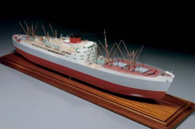 A model of the S.S. Port of Br
