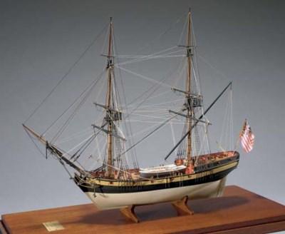 A scale model of the U.S. Brig