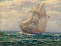 An American fishing schooner