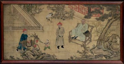A CHINESE PAINTING OF SILK OF