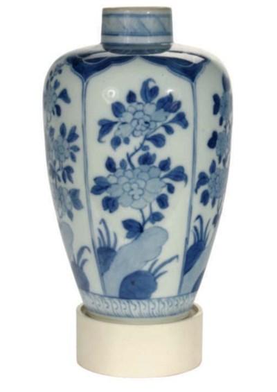 A JAPANESE BLUE AND WHITE BALU