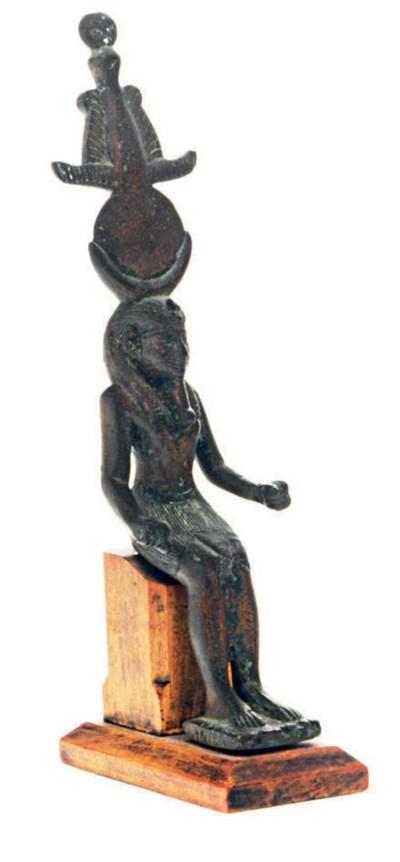 AN EGYPTIAN STYLE BRONZE FIGUR