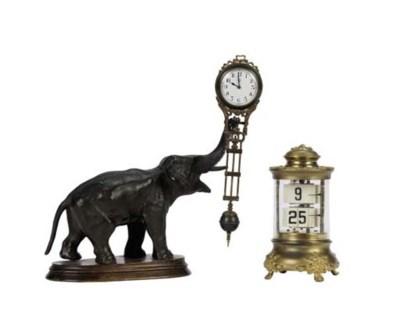 AN ELEPHANT-FORM MYSTERY CLOCK