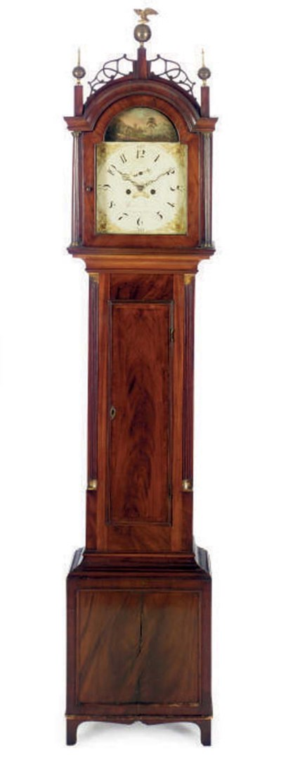 AN AMERICAN MAHOGANY TALL-CASE