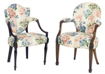 TWO ENGLISH FLORAL UPHOLSTERED