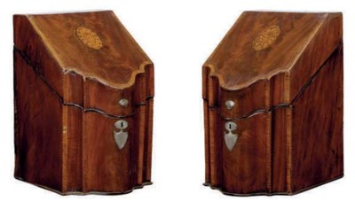 A PAIR OF GEORGE III INLAID MA