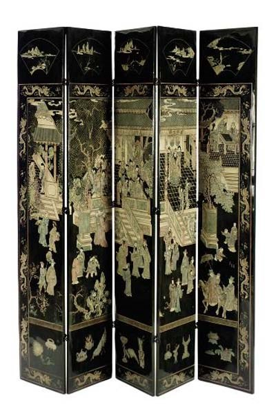 A CHINESE PAINTED POLYCHROME A