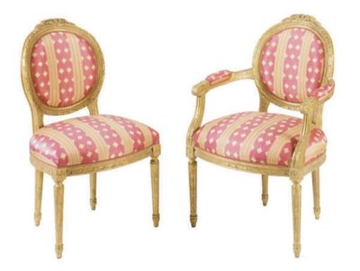 A SET OF TEN FRENCH GILTWOOD D