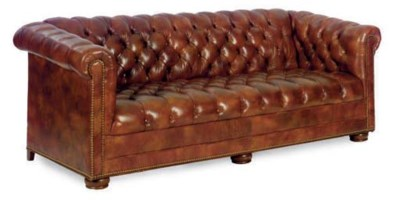 A PAIR OF BUTTON-TUFTED SOFAS,