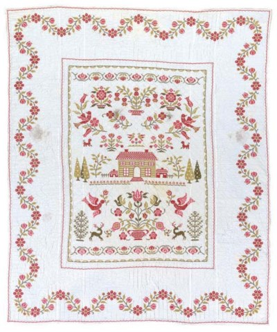 AN AMERICAN EMBROIDERED COTTON