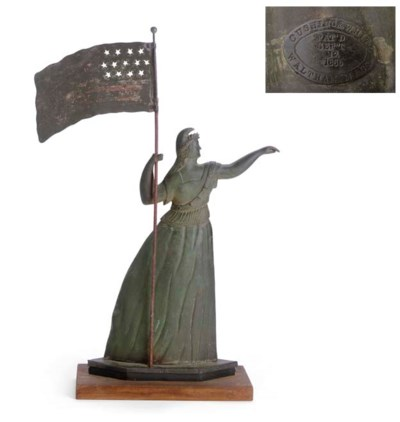A MOLDED AND PAINTED COPPER
