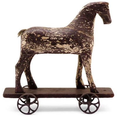 A HORSE PULL TOY