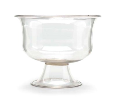 A FOOTED GLASS PUNCHBOWL