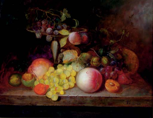 Still life of fruits on a table