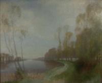 River landscape in spring