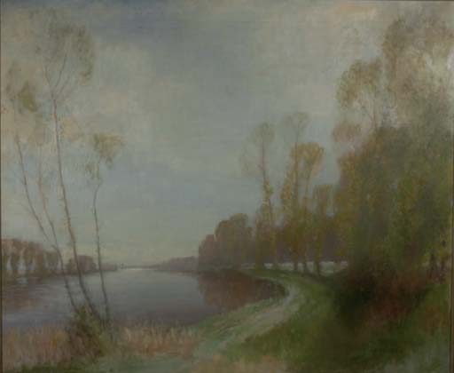 River landscape in spring