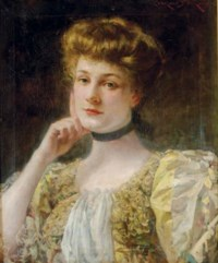 Portrait of a pensive lady