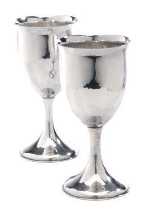 A SET OF SIX AMERICAN GOBLETS