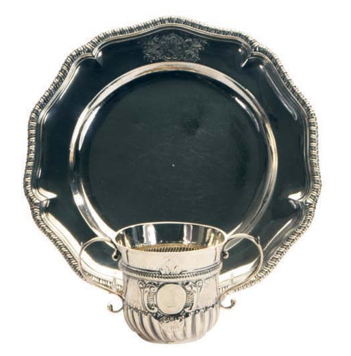 A QUEEN ANNE SILVER PLATE AND