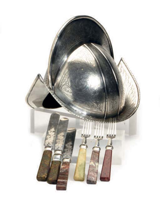 AN ASSEMBLED SILVER AND SILVER