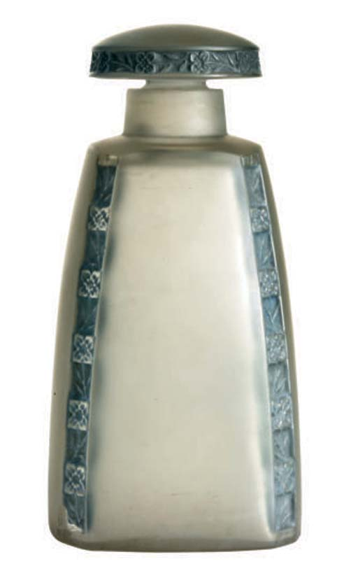 A FRENCH SCENT BOTTLE AND STOP