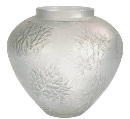 A FRENCH GLASS VASE,