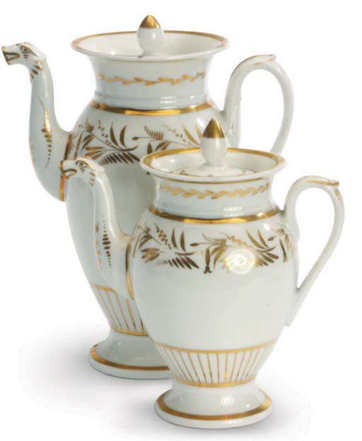 A FRENCH PORCELAIN TEA AND COF