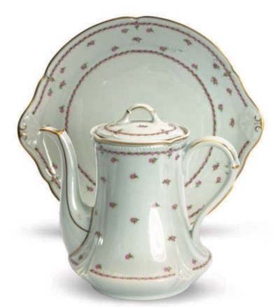 TWO FRENCH PORCELAIN PART TEA