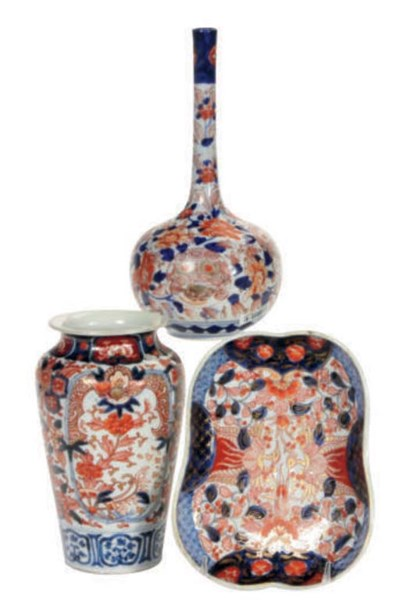A GROUP OF NINE JAPANESE IMARI