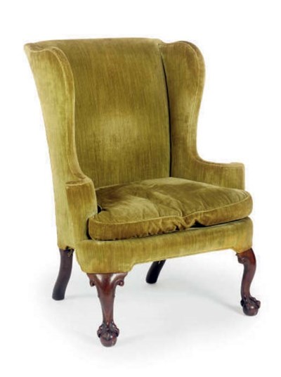 A GEORGE II WALNUT WINGBACK AR