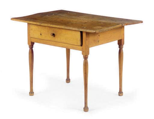 AN AMERICAN POPLAR TAVERN TABL