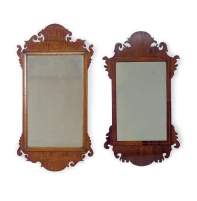 TWO AMERICAN WALL MIRRORS,