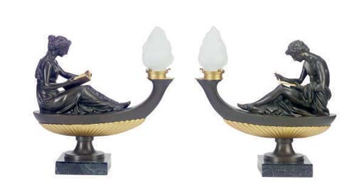 A PAIR OF PARCEL-GILT AND PATI