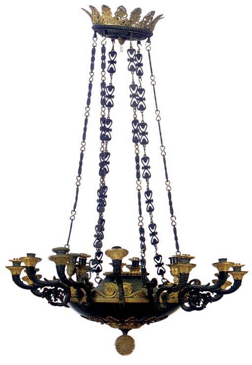 AN EMPIRE PATINATED AND GILT-B