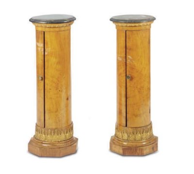 A PAIR OF BALTIC BIRCH PARCEL-