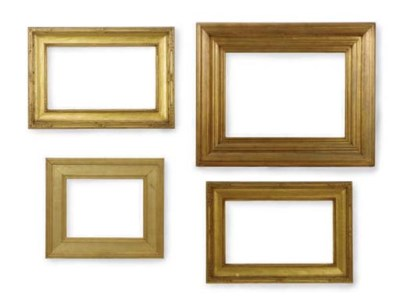 A GROUP OF FOUR GILTWOOD FRAME