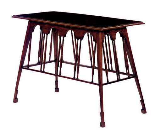 AN ENGLISH MAHOGANY TABLE,