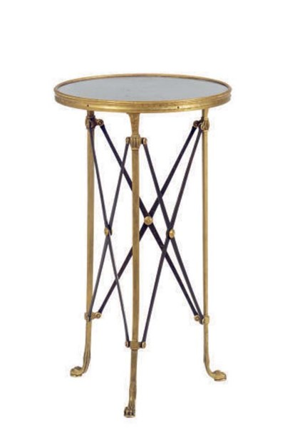 A GILT-BRONZE AND MARBLE TOP G