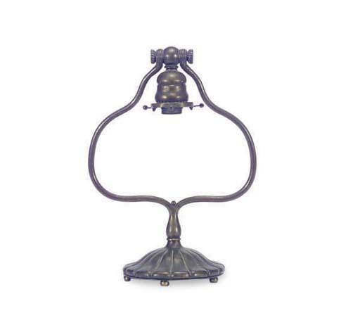 A GILT-BRONZE LAMP BASE,
