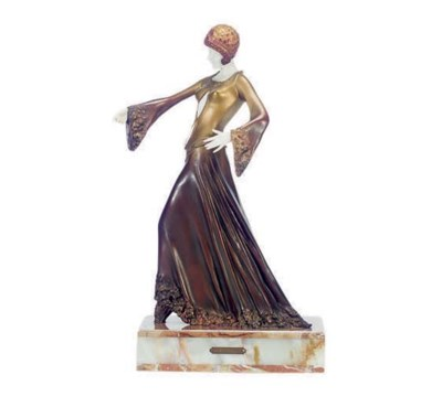 A COLD PAINTED BRONZE FIGURE,