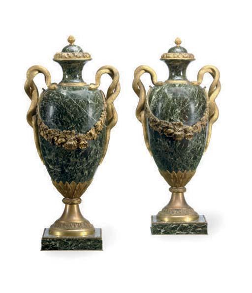A pair of French ormolu-mounte